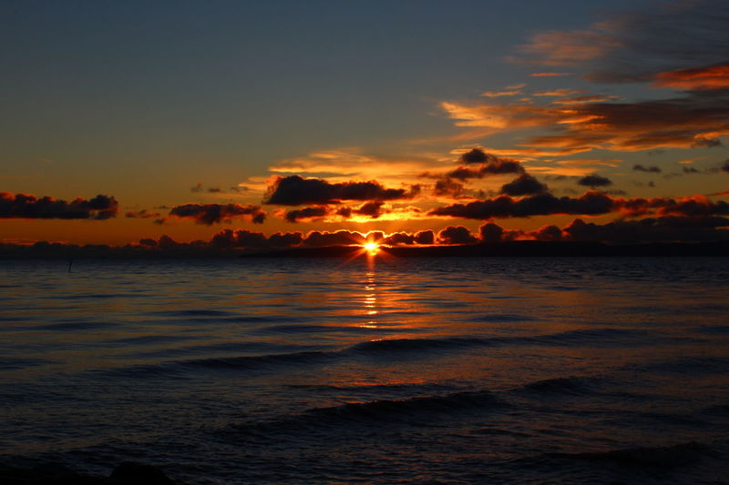 Sunset over the Ayrshire coast. Scotland 💕 Cloudscape Ocean Shore Coastline Wave Cloud - Sky Landscape Sky Dramatic Sky Scenics Beauty In Nature Outdoors Reflection Coastal Clouds