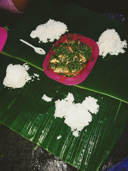 Dinner Fern Salad Healthy Eating Banana Leaf Rice - Food Staple Food Freshness