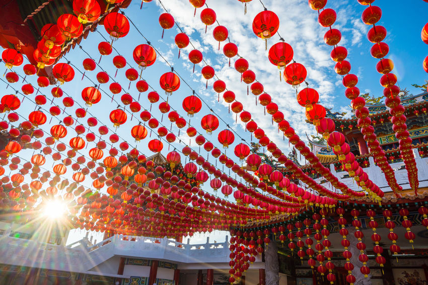KUALA LUMPUR, MALAYSIA - 15TH JANUARY 2017: Traditional Chinese lanterns display during Chinese new year festival at Thean Hou Temple in Kuala Lumpur, Malaysia Ancient Artchitecture Asian Culture Buddhism Candle Dragon Famous Place Hanging Happy Happy Chinese New Year Historic History Kuala Lumpur Lantern Lion Malaysia Old Buildings Oriental Pagoda Prosperity Religion Temple Thean Hou Temple (天后宫) Tourist Attraction  Wealthy