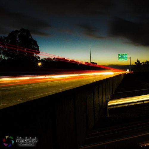 Fotografia Nikon D5100 50mm Lightpainting Night Noite Highway Atibaia