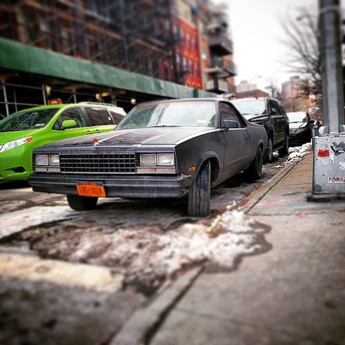 Car Elcamino Chevrolet Vintage oldskool classic old street streetphotography musclecar brooklyn williamsburgh newyorkcity newyork ny nyc style cool instacool igersnyc motor beautiful scary amazing american automotive autolovers carporn