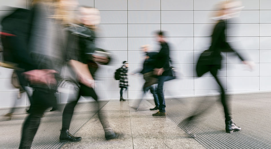 large crowd of blurred business walking Activity Adult Adults Only Architecture Blurred Motion Business City Commuter Congress Crowd Day Indoors  Large Group Of People Lifestyles Long Exposure Men Motion People Real People Rush Hour Seminar Speed Urgency Walking Women