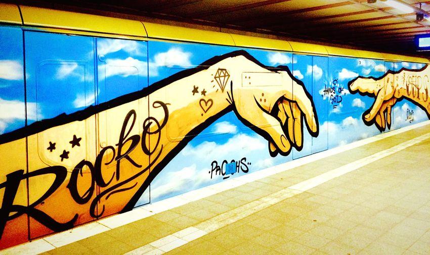 Graffiti Trainbomb Hands of God