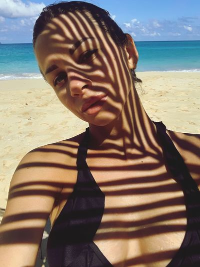 EyeEm Selects Beach Sea Water Land Sunlight Nature Horizon Over Water One Person Day Real People Lifestyles Young Women