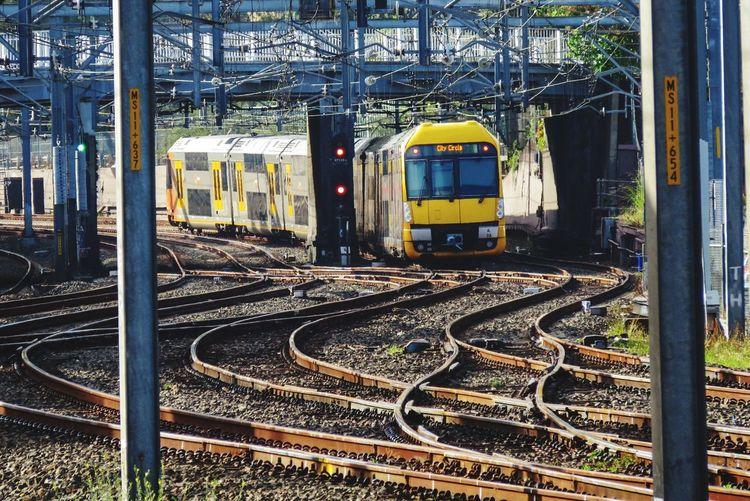 Canon Likeforlike Sydney Transportation Railroad Track Rail Transportation Public Transportation Mode Of Transport Train - Vehicle Day No People Outdoors