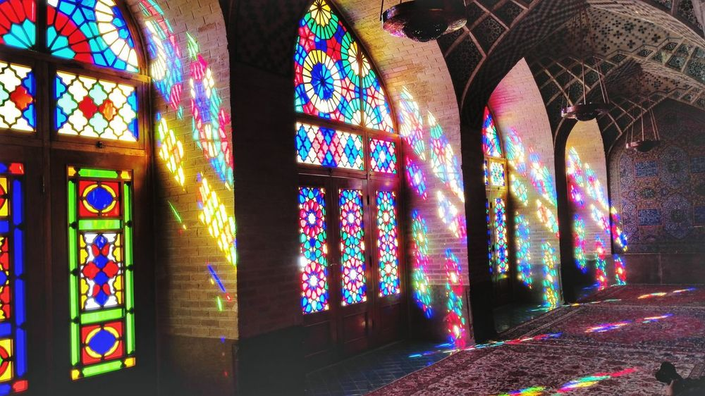 Multi Colored Religion Art And Craft Window No People Architecture Indoors  Shīrāz Religious  Mosque Architecture Iran Travel