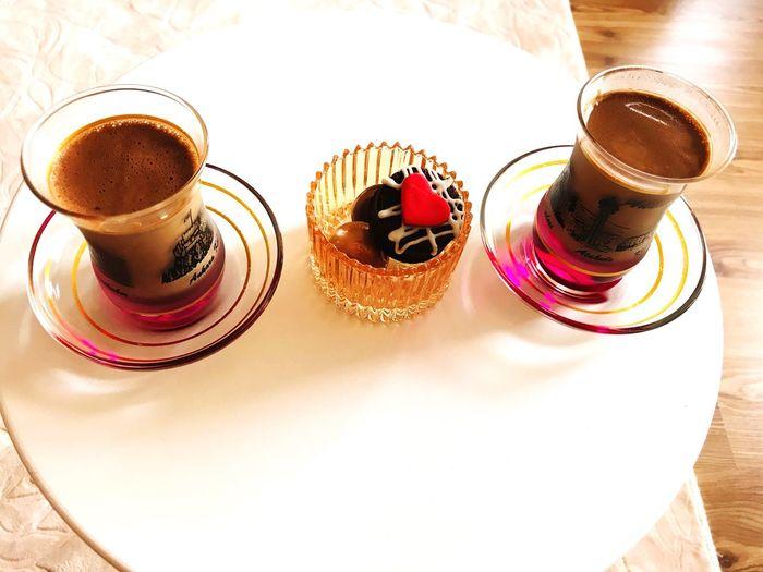 Turkey Türkkahvesi Cafee💕👏 Table Food And Drink Drink Still Life Refreshment Freshness Coffee