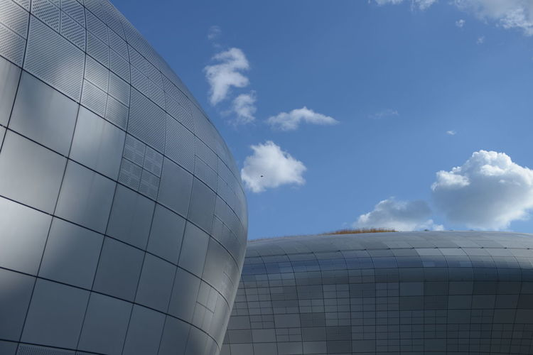 Sky Cloud - Sky Architecture Built Structure Building Exterior Day Nature Modern Outdoors No People Building Low Angle View Office Building Exterior Industry Blue Glass - Material City Sunlight Factory Office