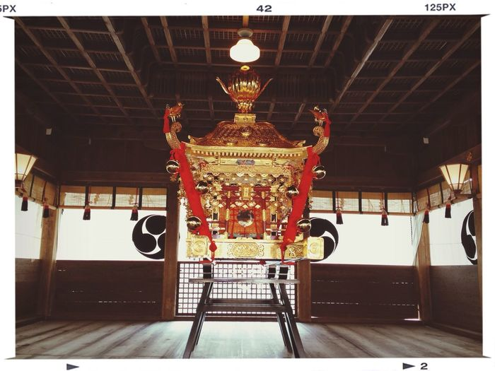 御神輿って、いいな。 Architecture Japanese Shrine