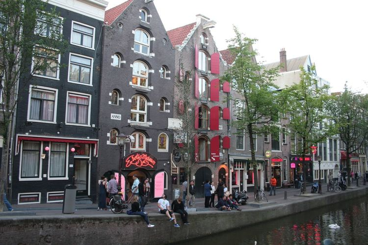 Amsterdam Architecture Building Building Exterior Built Structure City City Life Composition Day Destination Façade Holland House Outdoors Perspective Red Light District Residential Building Residential District Residential Structure Street Town Trip Urban Window