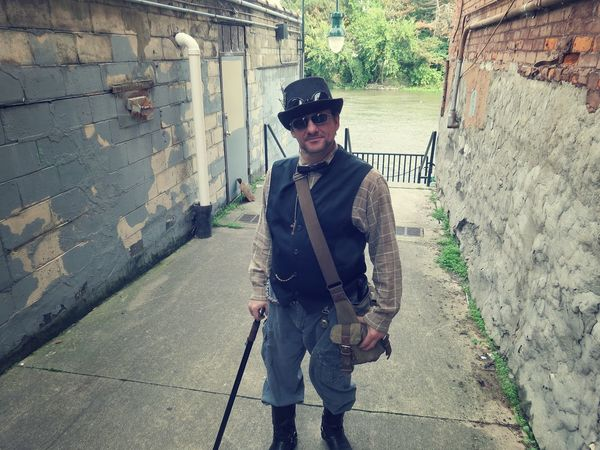 Adult Adults Only Cosplay Day Men One Man Only One Person Only Men Outdoors People Period Costume Police Force Steampunk Young Adult Young Men