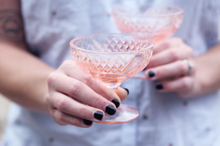 Pink Wedding Adult Celebration Close-up Drink Food And Drink Glass Glassware Hand Holding Human Hand Nail One Person Real People Selective Focus Vintage Women
