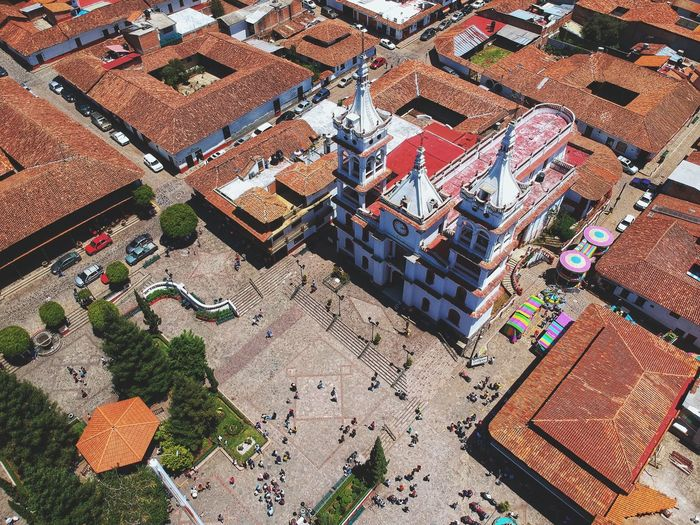 Increíble mi aventura por esos rumbos Turism Dronephotography Drone  Mazamitla Mexico Jalisco High Angle View Day Architecture No People Built Structure Building Exterior Sunlight Outdoors Building