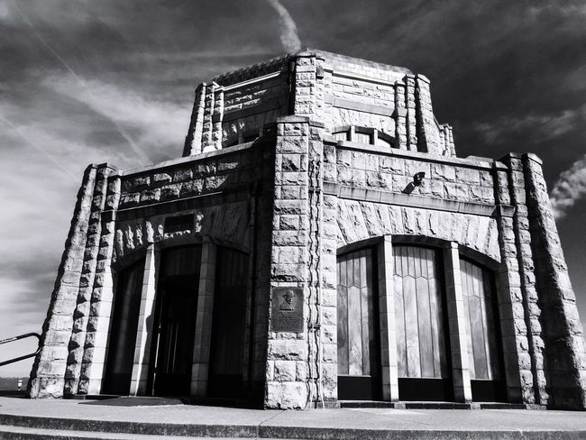 History Architecture Portland Oregon Columbia River Gorge IPhoneography Blackandwhite