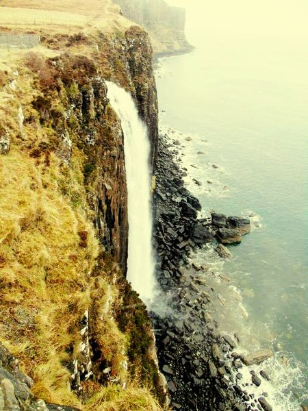 High Angle View Nature Sky Wave Scenics No People Beach Cliff Day Rock - Object Beauty In Nature Outdoors Sea Water Beauty In Nature Eyeem Photography Eyeemvision EyeEm Best Shots EyeEmLongGoodbye Isleofskye Scotland