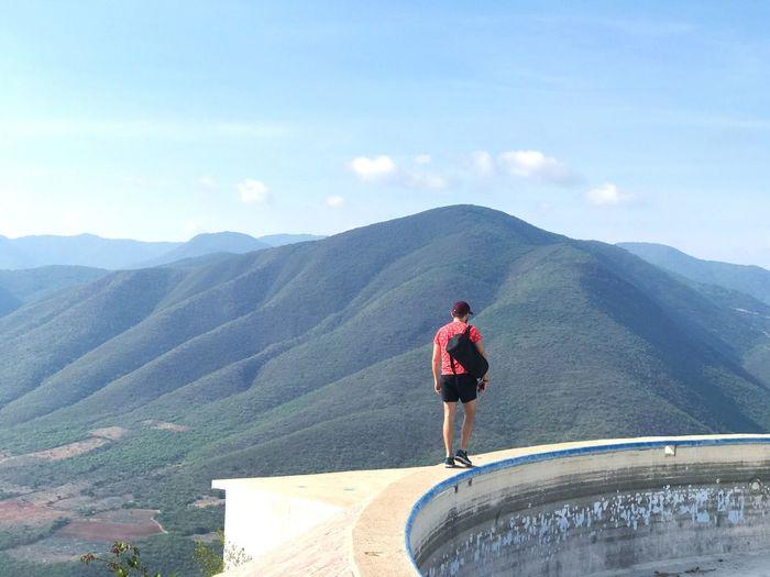 Hierve El Agua Mountain Nature One Person Oaxaca Mexico Outdoors Mountain Range Landscape