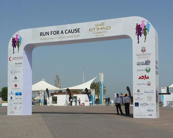Uae,abudhabi Etihadairways 3rd Annual Charity Event Run For A Cause 17th April 2015 Outdoor Photography