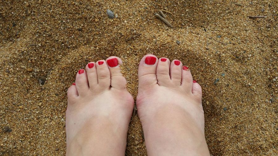 I wear flip flops a lot. :) Barefoot Tanlines  Lake Tahoe Relaxing Beach