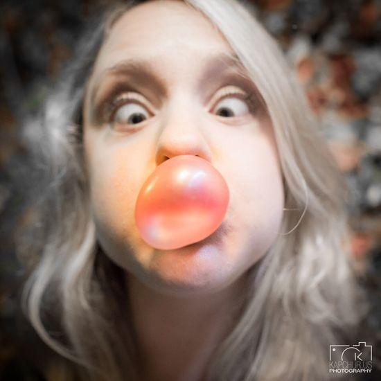 Yum yum Bubble Gum Bubble Gum Wall Portrait