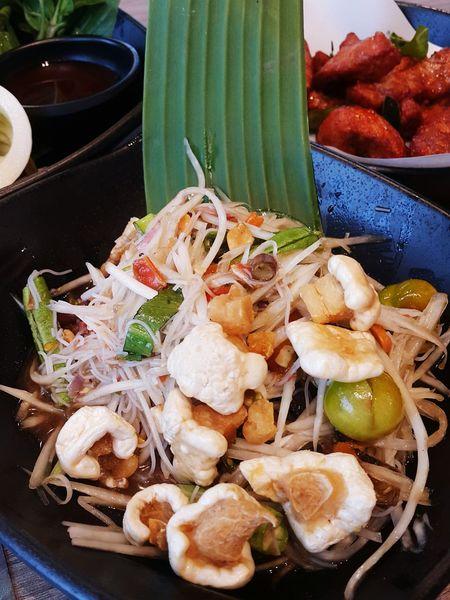 Esan Food Thai Esan Food Somtum Somtum Pu-plarha Yummy Delicious Hungry Thai Food ThaiNorthEastStyleFood Hot And Spicy Papaya Salad Spicy Food Spicy Papaya Salad Plate Close-up Food And Drink