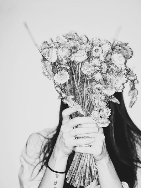 four. The Week On EyeEm Adults Only People Adult Day Close-up Women Indoors  Human Hand Holding Celebration Leisure Activity Lifestyles Real People One Person Flowers Black And White Black And White Photography Self Portrait Portrait Self B & W By Yeli
