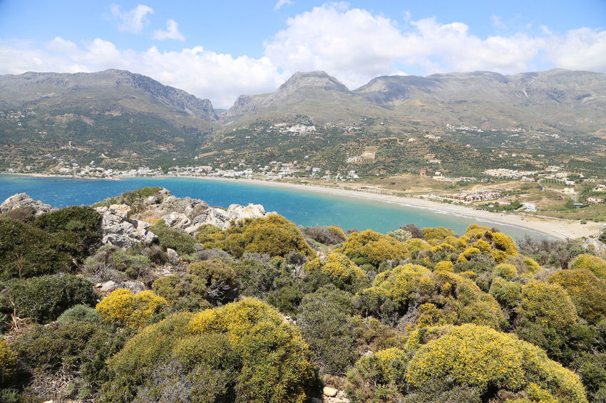 Plakias Bay seen from Kakomouro cape, Crete Beauty In Nature Crete Crete Greece Crete Island Day Idyllic Landscape Mountain Mountain Range Nature No People Outdoors Plakias Plakias Beach Scenery Scenics Sea Sky Tranquil Scene Tranquility Tree Water Waterfront