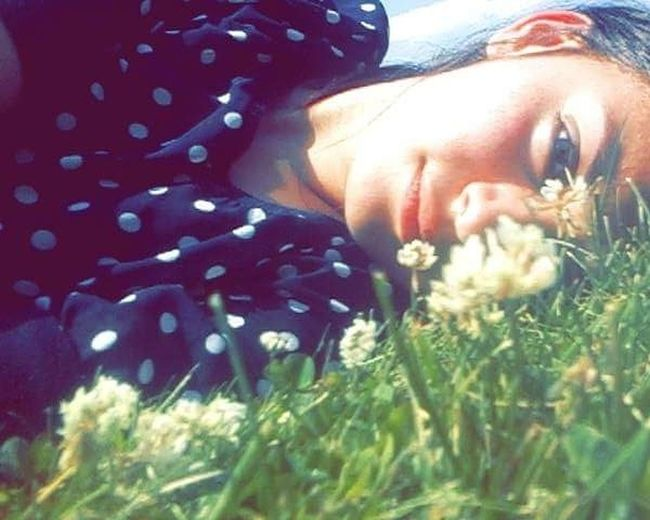 One eye open the other one dreaming Nature One Person Summer Only Women People Adults Only One Woman Only Adult Outdoors Young Women Portrait Flower Young Adult Women Grass One Young Woman Only Day Beautiful Woman Close-up Fashion Stories EyeEmNewHere