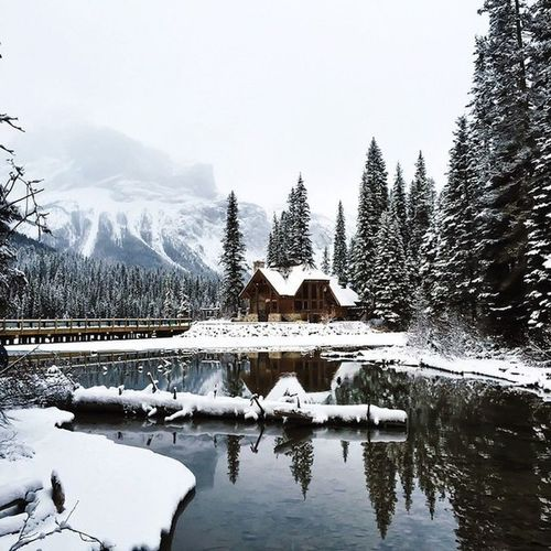 Snow Winter Lake Cold Temperature Mountain Water Tree Nature Reflection No People Sky Travel Destinations Tranquility Outdoors Forest Scenics Landscape Beauty In Nature Cloud - Sky Bridge - Man Made Structure