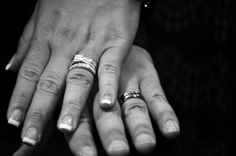 EyeEm Selects Ring Two People Wedding Jewelry Adults Only Love Married Couple - Relationship Adult People Human Body Part Human Hand Close-up Togetherness Diamond Ring Bride Day Bridegroom Press For Progress