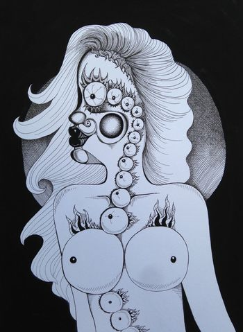 Art VisualArt  Eyes Drawing Illustration Genskiart Surrealism Surreal
