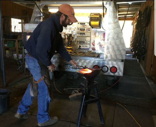 farrier at work Workshop Working Seniors Industry Working Full Length Business Finance And Industry Senior Adult Steel Mill Steel Worker