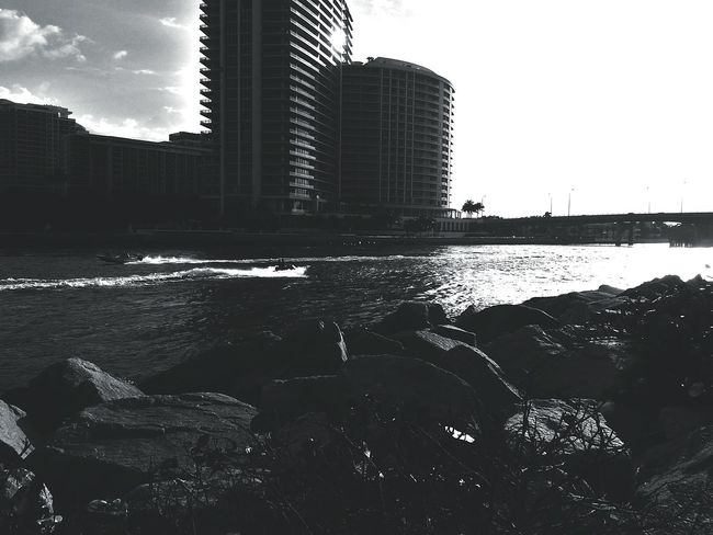 Monochromatic Black And White Photography Urban Photography Buildings Miami FL Usa 🇺🇸☀️ Monochrome Monochrome _ Collection Ocean View Ocean Black And White Ocean Photography Beachphotography Waves, Ocean, Nature Monochrome Photography