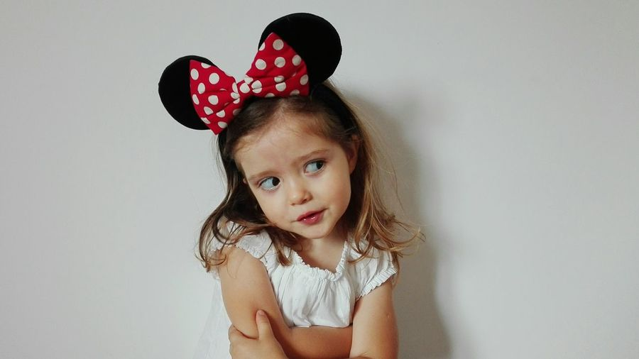 147/365 Children Only One Girl Only Child Girls Childhood One Person Portrait People Indoors  Disguise Only Girls Headband Day Brown Hair Minnie Mouse Minnie Ears