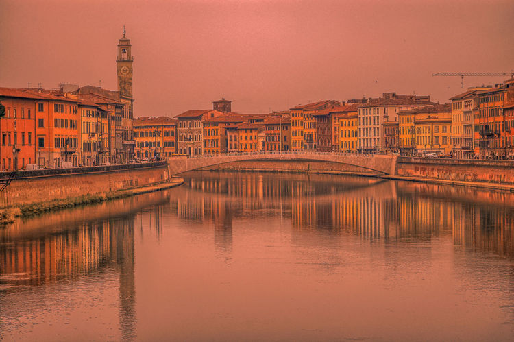 Soft Colored Reflection Sunset Cityscape Water No People Sky City Architecture Light Silhouette Gildo Masini Street Light Eyem Best Shots FUJIFILM X-T1 Eyem Vision Landscape Italy🇮🇹 Tuscany View Adult Gildo Masini Vacations