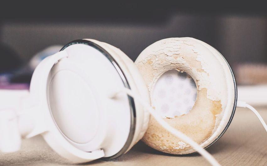 Close-up of headphones