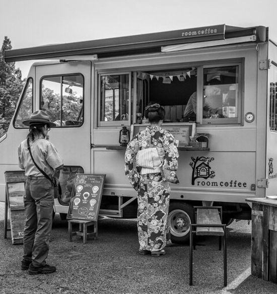 Scout Kimono Coffee Japan Japanese  Japanese Style Japanese Fashion Japan Photography Street Streetphoto_bw Fashion Style Kimono Uniform Monochrome Blackandwhite Candid People Coffee Coffee Time GH4 Panasonic  Lumix Cooljapan Ultimate Japan