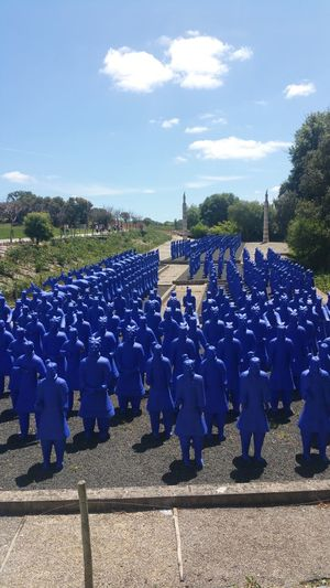 Blue Army Ancient Civilization No Weapons
