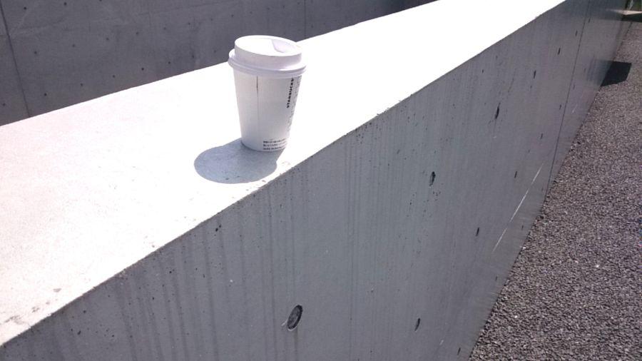 Starbucks Coffee Cup Concrete Blocks Day Shadow Outdoors No People Architecture Close-up Shinjuku-gyoen Tokyo,Japan