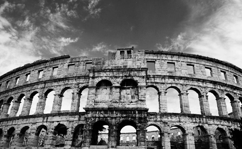 The Beautiful Amphitheater in Pula Croatia Blackandwhite Black And White Black & White Ladyphotographerofthemonth History Historical Building Architecture Old Ruin Ancient Shootermag Ancient Civilization Tourist Attraction  Tourist Destination Travel Destinations Built Structure Arts Culture And Entertainment Archaeology Architectural Column Arch Architecture EyeEm Best Shots Eye4photography  Been There. The Week On EyeEm Connected By Travel The Architect - 2018 EyeEm Awards