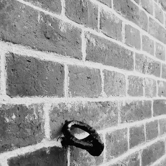Brick Wall Full Frame No People Day Outdoors Close-up Backgrounds Architecture Black & White Anker Baksteen