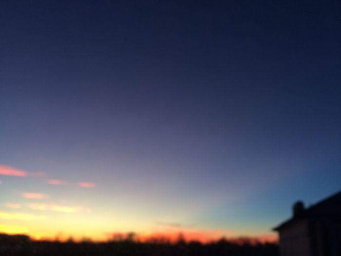 Sunset Blue Sky Beauty In Nature Orange Idyllic Landscape Cloud Selective Focus Horizon Over Land Majestic Evening Light Defocused