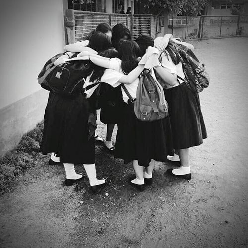 Crazy Friends Friendship ❤ My Squad  Cactus Squad FriendsForLife❤️ Group Hug! Blackandwhite