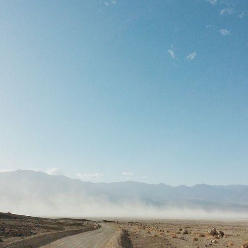 Afternoon dust storms. Deathvalleynationalpark Deathvalley Middlebasin Desolationcanyon california roadtrip