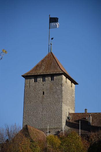 Freiburg Fribourg Historical Building Schweiz Turm Historisches Gebäude Lake Murten Murten Murtensee Seeland Switzerland Tower