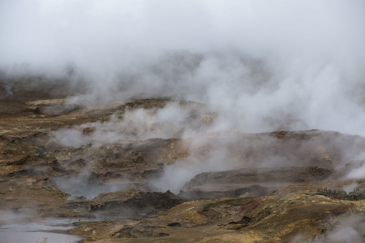 Smoke Emitting From Hot Spring