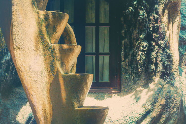 Stairs Architecture Crazy House Vietnam Art And Craft Close-up Craft Creativity Day House Indoors  Nature No People Old Plant Representation Sculpture Sunlight Tree Tree Trunk Trunk Window ArtWork