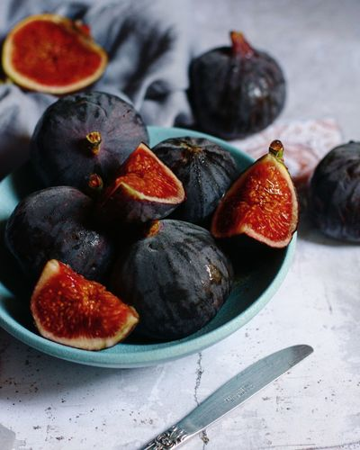 Close-up of red figs