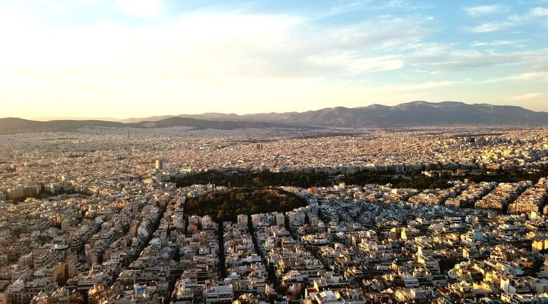 Lycabetous Hill and Kolonaki Athens Whataview Breathtaking Itsreal Cozy Ilovegreece Lycabettus Amazing Capturing History Photosaroundtheworld Once In A Lifetime Beauty In Nature Kolonaki History Conservation No People Sunset Mountain