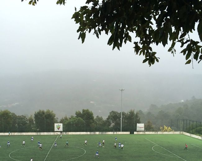 Watching Football Monchique Armação De Pêra Fog Foggy Day Cold Winter ❄⛄ The Places I've Been Today