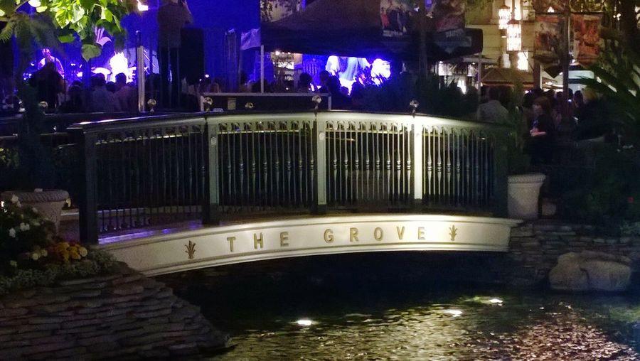The Grove  Water Bridge Sign